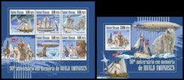 GUINEA BISSAU. 2018 **MNH Roald Amundsen M/S+S/S - OFFICIAL ISSUE - DH1848 - Explorateurs & Célébrités Polaires