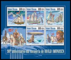 GUINEA BISSAU. 2018 **MNH Roald Amundsen M/S - IMPERFORATED - DH1848 - Explorateurs & Célébrités Polaires