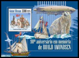 GUINEA BISSAU. 2018 **MNH Roald Amundsen S/S - IMPERFORATED - DH1848 - Explorateurs & Célébrités Polaires