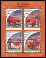 GUINEA REP. 2018 **MNH Fire Engines Feuerwehr Fahrzeuge Camions De Pompier M/S - OFFICIAL ISSUE - DH1848 - Sapeurs-Pompiers