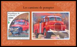 GUINEA REP. 2018 **MNH Fire Engines Feuerwehr Fahrzeuge Camions De Pompier S/S - IMPERFORATED - DH1848 - Sapeurs-Pompiers