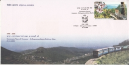 India 2008  Trains  Coonoor - Udhagamandalam Railway Line  Special Cover  #  15044  D  Inde Indien - Trains