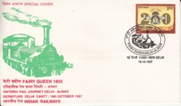 India  1997  Trains  Fairy Queen  Delhi - Alwar Historic Journey  Special Cover  #  15017  D  Inde Indien - Trains