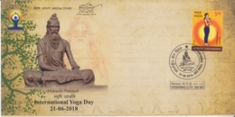 India 2018  Hinduism  Maharshi Patanjali  International Yoga Day  Hyderabad  Special Cover  #  15276  D  Inde Indien - Hinduism