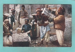 Old Post Card Of Stone Masons,Jerusalem, Israel.J20. - Israel