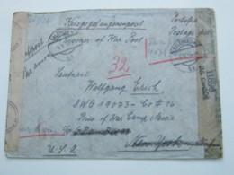 1944 , Kriegsgefangenenpost , Brief Aus Wien Nach USA , Camp Mexia - 1918-1945 1. Republik