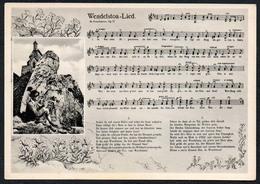 B7772 - Wendelstoa Lied Liedkarte Künstlerkarte - M. Froschmair - Berghotel Wendelstein - Hans Birkmeyer Brannenburg - Schöne Künste