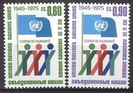 UNO GENF 1975 Mi-Nr. 50/51 A ** MNH - Genève - Kantoor Van De Verenigde Naties