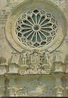 OTRANTO - CATTEDRALE - IL ROSONE DELLA FACCIATA - VIAGGIATA 1995 - Chiese E Cattedrali