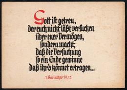 B4633 - Wanda Fuchs - Spruchkarte Künstlerkarte - 1. Kor. 10, 13 - - Christentum