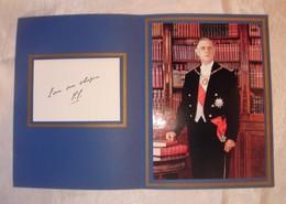"""Portrait De Charles De Gaulle Avec Lettre""""Pour Mes Obsèques"""" 1890-1970 - Geïdentificeerde Personen"""