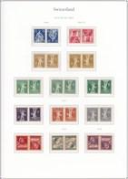 Switzerland Tete-beche Issues. Zumstein Catalog $2470. - Se-Tenant
