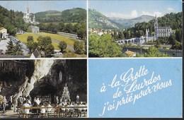 LOURDES - VEDUTE . FORMATO PICCOLO - VIAGGIATA 1971 - ANNULLO A TARGHETTA - Luoghi Santi