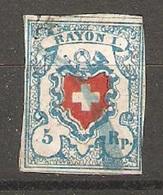 Timbre Suisse De 1851 ( Rayon I ) - 1843-1852 Timbres Cantonaux Et  Fédéraux