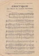 Cantique Pour L'Oeuvre Des Vocations Sacerdotales (Almanach Diocèse Montauban 1923) Paroles J.Gaston Musique A.Tisseire - Partitions Musicales Anciennes