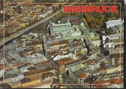 AUSTRIA - INNSBRUCK - VEDUTA AEREA - VIAGGIATA FRANCOBOLLO ASPORTATO - Innsbruck