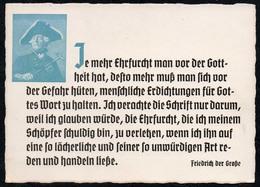 5231 - Friedrich Der Große Spruchkarte Künstlerkarte - Ludendorff Buchhandlung München - Schöne Künste