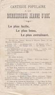 Cantique Historique Populaire à La Bienheureuse Jeanne D' Arc Paroles, Musique  F.TOURTE (école Supérieure Théologie BE) - Partitions Musicales Anciennes