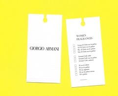 ARMANI  NEW CARTE USA - Perfume Cards