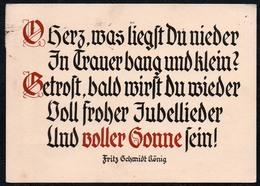 6415 - Fritz Schmidt König Spruchkarte Künstlerkarte - Verlag Brockhoff - Wilhelm Fehrholz - Zeichnung R. Leimenstoll - Schöne Künste