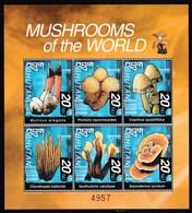 Bhoutan Feuillet Neuf** 6 Timbres Champignon (pholliote, Ganoderme...) - Pilze