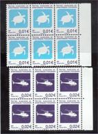 V7 - TAAF - 705 Et 706 ** MNH De 2014 En Bloc De 6 - TORTUE Et HELICOPTERE. - Terres Australes Et Antarctiques Françaises (TAAF)