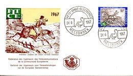 BELGIQUE. N°1422 De 1967 Sur Enveloppe 1er Jour. Postillon à Cheval. - Poste