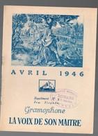Catalogue De Disques LA VOIX DE SON MAITRE : Avril 1946  ((PPP9932) - Werbung