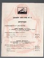 Catalogue De Disques LA VOIX DE SON MAITRE : Saison 1947-48 N°4  (PPP9935) - Werbung