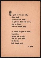 7139 - Grete Flach Spruchkarte Künstlerkarte - Verlag Grete Flach Spruchkartenverlag Chemnitz Brühl - Schöne Künste