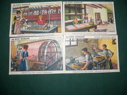 """"""" AU BON MARCHE , MAISON A. BOUCICAUT , PARIS  : FABRICATION DE LA SOIE - Picture Cards"""