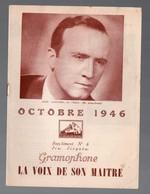 Catalogue De Disques LA VOIX DE SON MAITRE : Octobre 1946  (PPP9936) - Werbung