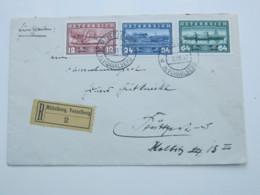 1937 , Mittelberg , Kleinwalsertal , Einschreiben - 1918-1945 1. Republik