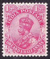 INDIA 1926 KGV 1.5 Anna Rose-Carmine SG198 MH - India (...-1947)