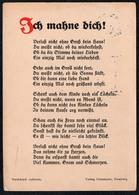 A6790 - Liedkarte Künstlerkarte - Ich Mahne Dich -  Verlag Ostermann Hamburg - Schöne Künste