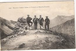 RENCONTRE D ALPINS ITALIENS ET FRANCAIS AU MAMELON FRONTIERE ECRIS - Guerre 1914-18