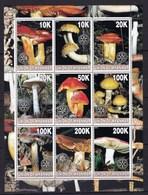 Myanmar Feuillet Neuf ** TTB 9 Timbres Champignon - Pilze