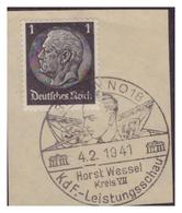 Dt-Reich (007157) Sonderstempel Auf Briefstück, Berlin NO18, Horst Wessel Kreis VII, KDF Leistungsschau, Gestempelt 1941 - Deutschland
