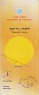 India  2004  Astronomy  Transit Of Venus   Un- Stamped  Information Brochure  #  90681  Inde Indien - Astronomie