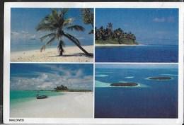 MALDIVES - LE SPIAGGIE - VIAGGIATA 1997 FRANCOBOLLO ASPORTATO - Maldives