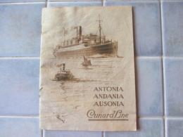 Pub Paquebot Antonia Andania Ausonia Cunard Line Canada - Publicités