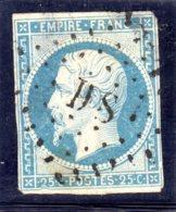 FRANCIA FRANCE 1853 N. 15 USATO - 1853-1860 Napoleon III