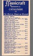 Catalogue De Disques MUSICRAFT   Sd (PPP16226) - Werbung