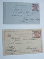 1895 , BANJALUKA , 2 Belege Nach Bayern - Bosnie-Herzegovine