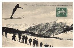 SPORTS - SKI ALPIN - Les Sports D' Hiver En Dauphiné - Le Saut En Ski (Keller) 23m - Ed. E. R. - 1122 - Winter Sports