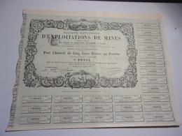 Société Nationale D' EXPLOITATIONS DE MINES (1880) - Actions & Titres