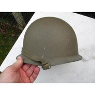 Casque Lourd M-51 /1951 Français Daté 1953 Indo Algérie Jugulaire Accrochées Comme Us Ww2 Indochine - Headpieces, Headdresses