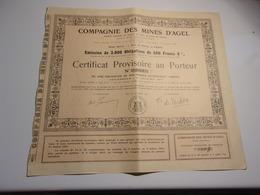 MINES D'AGEL (1909) - Actions & Titres