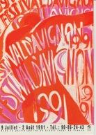 18/ 12 / 172  -  AFFICHE  OFFICIELLE  DU  FESTIVAL  D'AVIGNON   - 1981 - Avignon