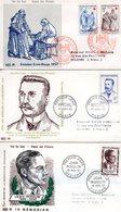 Lot 3 Enveloppes Premier Jour 1957-1958 - FDC
